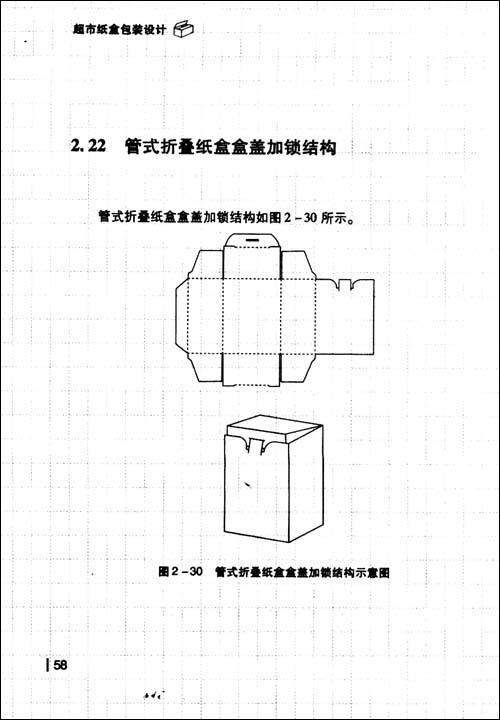 反映超市常用纸盒包装结构