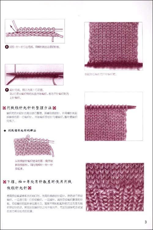 同线锁针的起针法 用钩针绕线的起针法 单罗纹编织的起针法 用手指绕