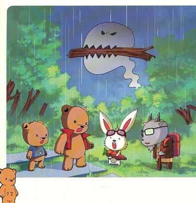 """小白兔告诉柏迪: 他和森林里其他的动物们正在寻找传说中的""""梦幻森林"""""""