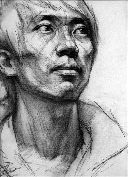 竞赢高分范本——王艳君素描头像·结构与明暗