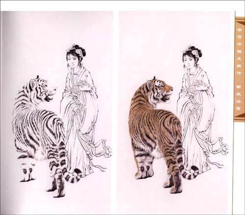 虎的画法步骤图片