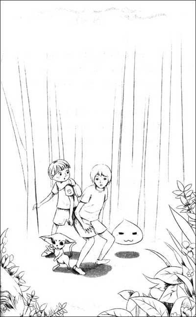 奇幻森林铅笔画