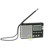 德生(Tecsun) R-9702 黑色 高灵敏度全波段立体声收音机 短波二次变频技术 机小音大
