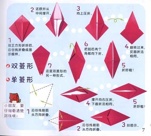 屋蓬船折纸步骤