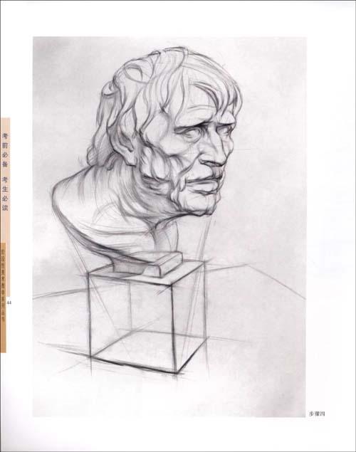 大卫石膏头像结构素描图片