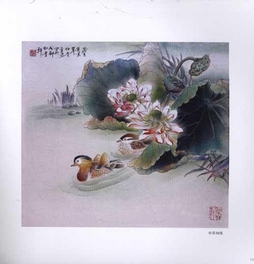 中国画技法:工笔荷花