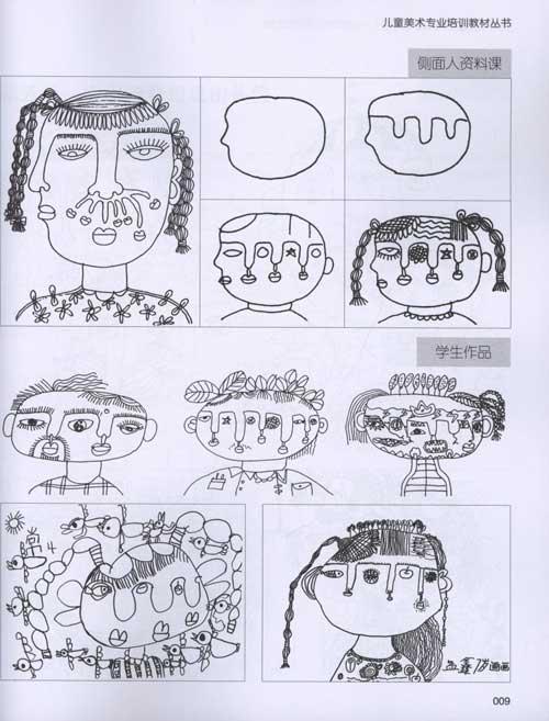 儿童线描画写生